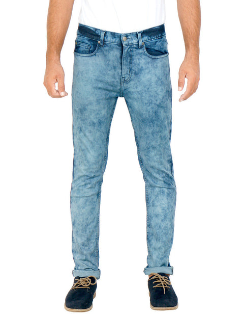March Random Blue Skinny Jeans For Men