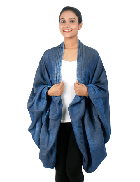 March Overcoat Medium Random Blue Denim Shrug SuperLite For Women
