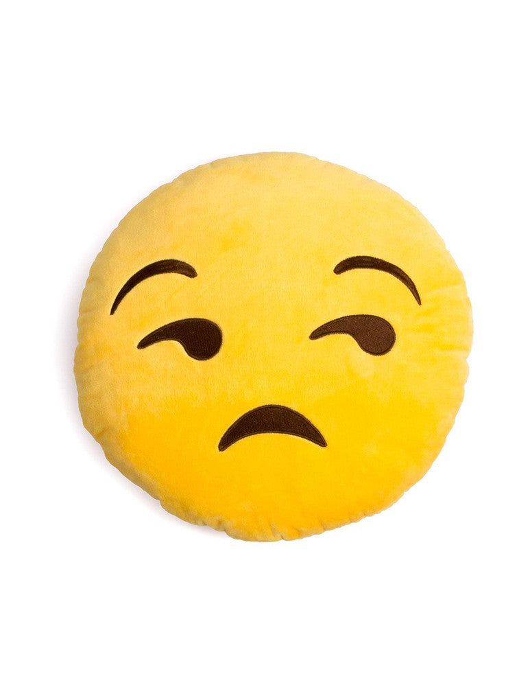 March Unamused Emoji Cushion - Yellow