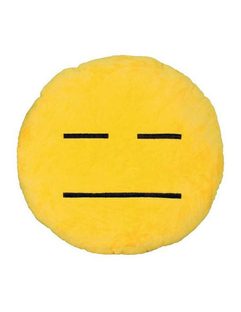 March Expressionless Emoji Cushion - Yellow