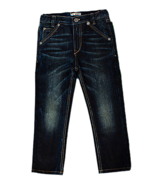 March Dark Blue Jeans Vintage Look for Boys