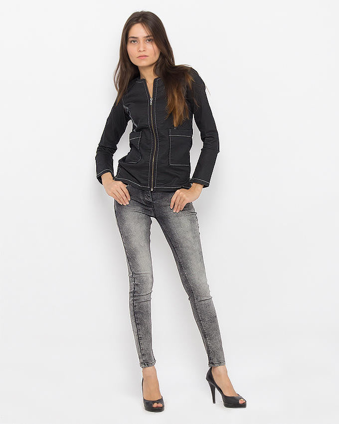 March Denim Gray Jeggings With Frosting for Women
