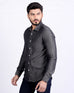 Dark Grey Tencel Denim Buttondown Shirt * Long Sleeves for Men