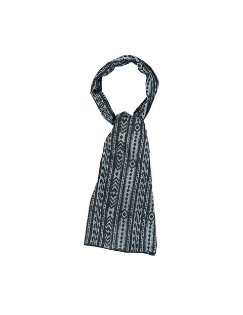 March Black Aztec Print Stole - Large for Women