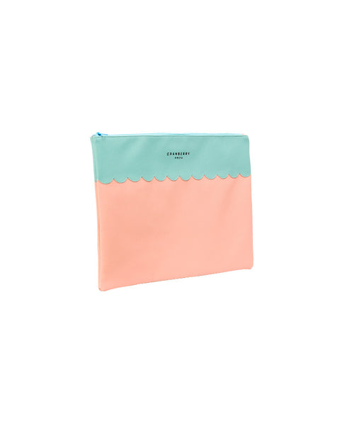"March Baby Pink & Green Laptop Bag (18"") with Zipper"