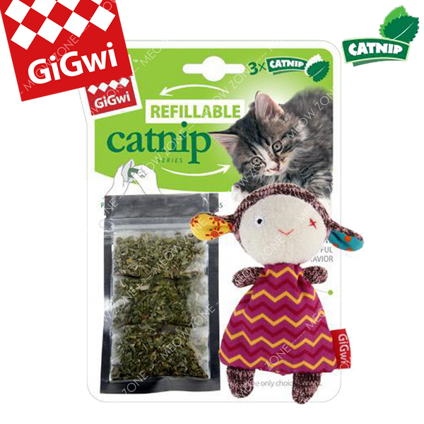 GiGwi Refillable Catnip小羊貓草袋