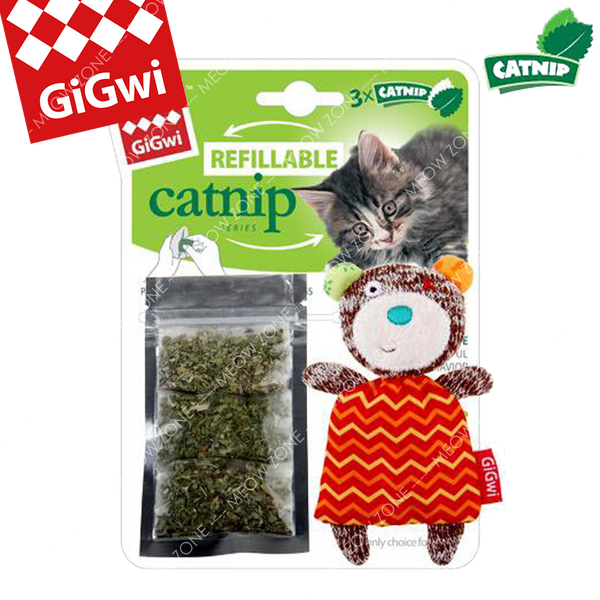 GiGwi Refillable Catnip小熊貓草袋