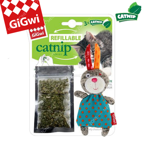 GiGwi Refillable Catnip兔仔貓草袋