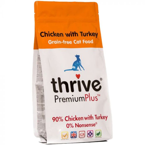 Thrive PremiumPlus Chicken with Turkey 無穀物全貓糧 1.5KG (90% 雞肉+火雞)