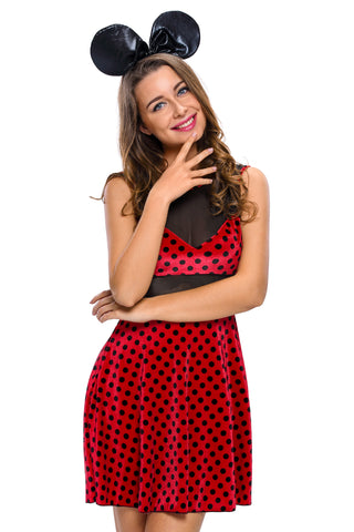 Red Polka Dots Mistress Mouse Costume