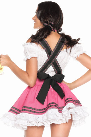 Pink Flirting Sweet Beer Babe Costume
