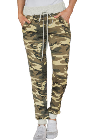 Army Green Radar Pocketed Running Joggers