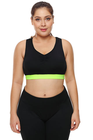 Black Racerback High Support Sports Bra