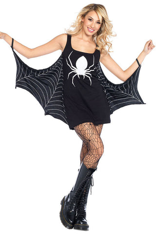 Black Jersey Spiderweb Cosplay Costume