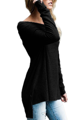 Ruched Off Shoulder Long Sleeves Top
