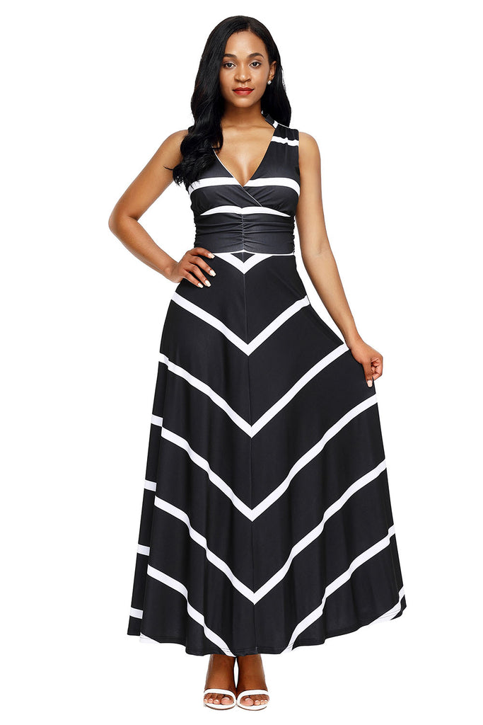 33d8a639ea5 Buy Black Back Cutout Stripes Dress Online India - Boldgal.com