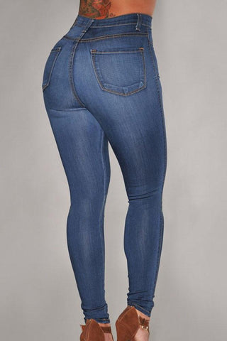 Light Blue Ladies Denim Sexy High Waist Jeans - Boldgal.com