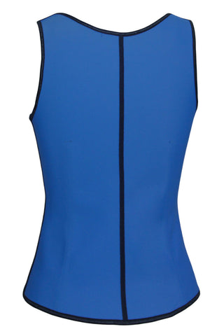 Blue Ladies Under Bust 4 Steel Boned Corset - Boldgal.com