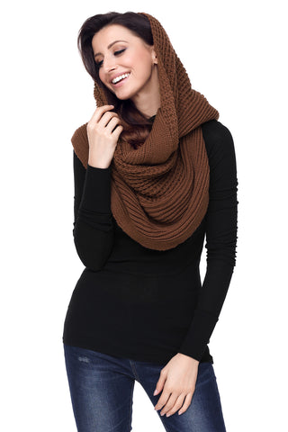 Brown  Cable Knit Long Scarf