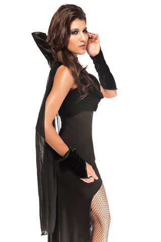 Black Sleeveless Countess Night Costume