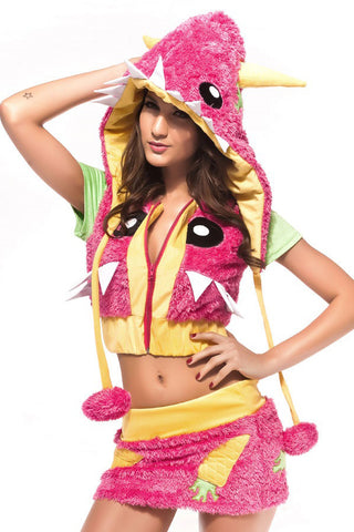 Pink Monster Fantasy Costume