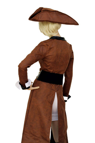 Brown Role Play Pirate Captain Costume