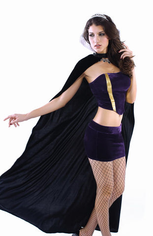 Purple Off Shoulder Queen Costume