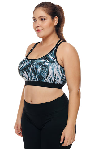 Black Double Straps Grassy Sports Bra