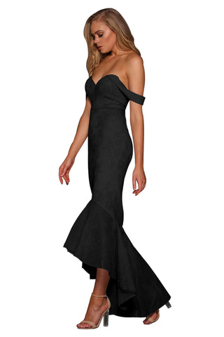Black Strapless Elegant Fishtail Gown