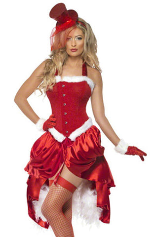 Red Santa Baby Burlesque Costume