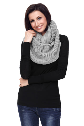 Grey  Cable Knit Long Scarf