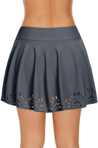 Grey Design Laser Cut Beach Skirt