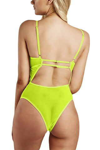 Green Deep Neck Kind Of Way Bodysuit