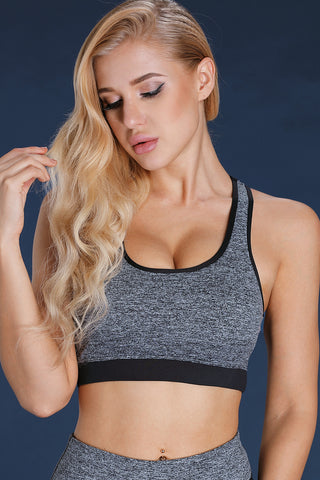 Grey U-shaped Gym Sports Bra