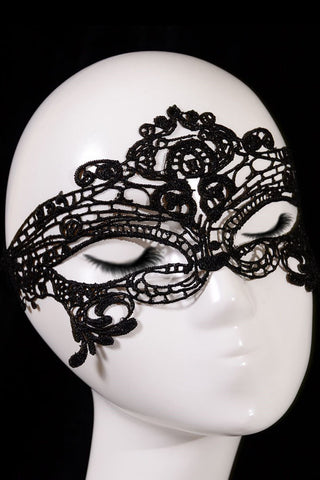 Black Women's Venetian Lace Party Mask - Boldgal.com