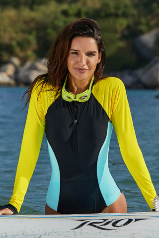 Multicolor Long Sleeve Rashguard Suit