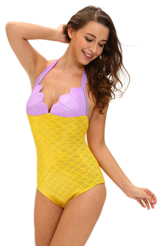 Yellow Halter Twinkle Mermaid Costume