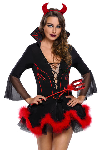 Black Iblis Devil Horror Costume