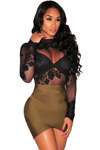 Green Arched Bandage Ladies Short Skirt - Boldgal.com