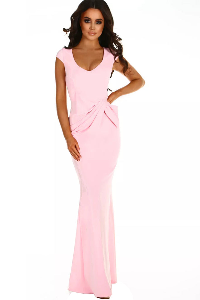 Buy Pink Ruched Wedding Party Gown Online India - Boldgal.com