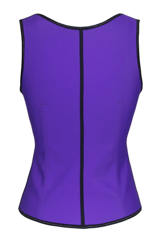 Purple Ladies Under Bust 4 Steel Boned Corset - Boldgal.com