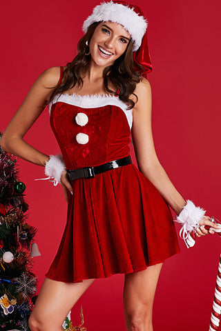 Red Velvet Diamond Christmas Costume