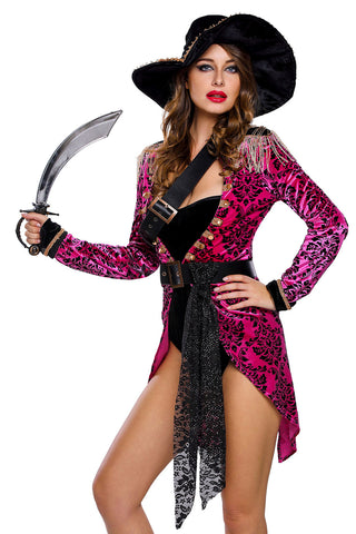 Pink Swashbuckler Pirate Costume
