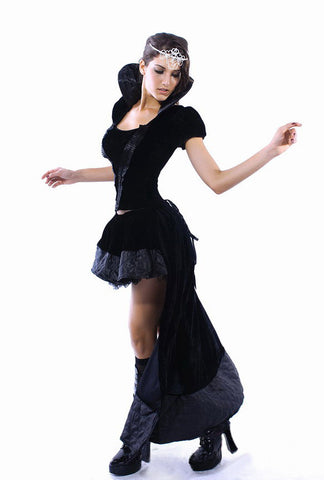 Black Short Sleeves Queen Costume