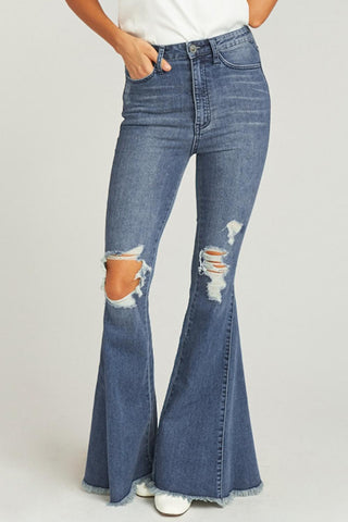 Blue Bell Bottom Zip up Jeans