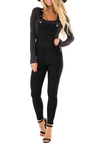 Black Denim Overall Jeans