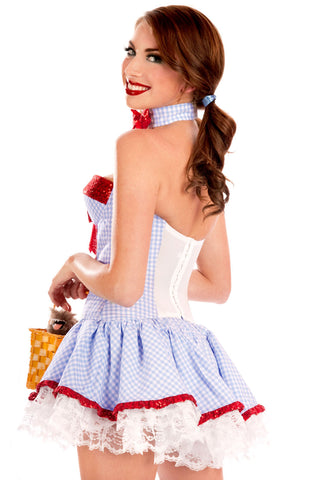 White Strapless Country Girl Costume
