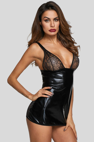 Black Deep Neck Minx Chemise