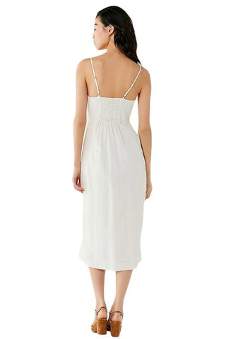 White Button Down Sleeveless Dress