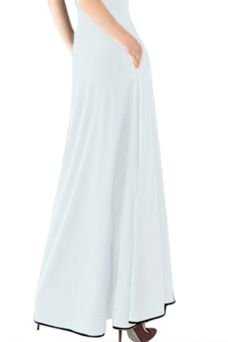 Embellished High Waist Maxi Skirt